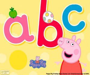 Puzzle Peppa Pig et les lettres abc