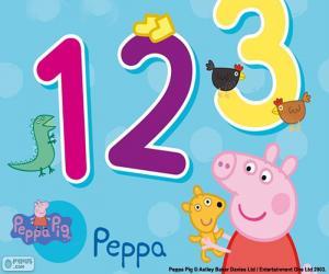 Puzzle Peppa Pig et numéros