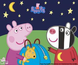Puzzle Peppa pig et Zoe Zebra