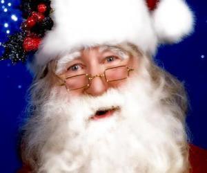 Puzzle Père Noël avec son chapeau et sa barbe