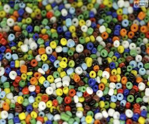 Puzzle Perles colorées