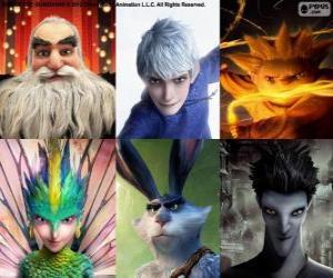 Puzzle Personnages de Les Cinq légendes
