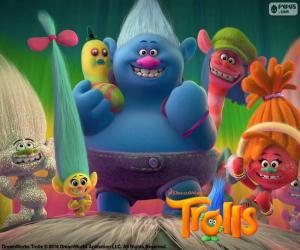 Puzzle Personnages de Les Trolls