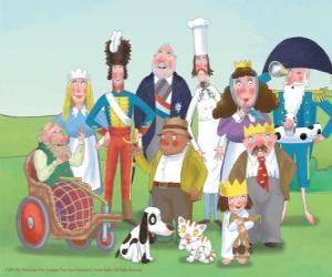 Puzzle Personnages de petite princesse