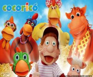Puzzle Personnages principaux de la ferme Cocorico