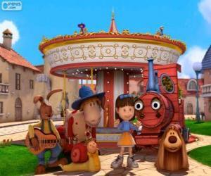 Puzzle Personnages principaux du film Pollux, le manège enchanté