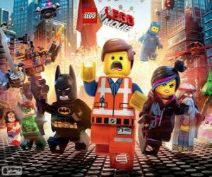 Puzzle Personnages principaux du film Lego