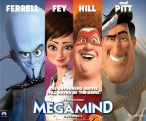 Puzzle personnages principaux Megamind
