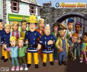 Puzzle Personnages, Sam le Pompier