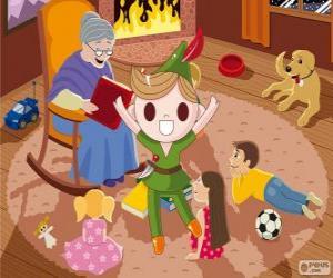 Puzzle Peter Pan vit dans Neverland, le Pays imaginaire