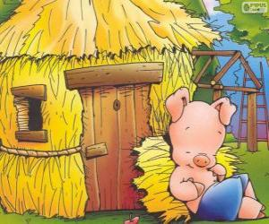 Puzzle Petit frère termine premier de sa maison en paille
