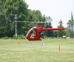 Puzzle Petit hélicoptère avec pilote