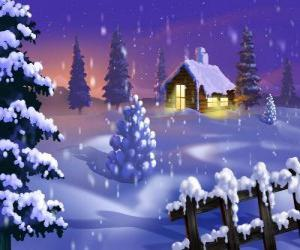 Puzzle Petite maison dans la neige
