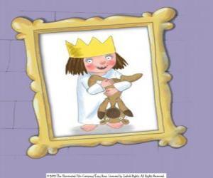 Puzzle Petite princesse et son ours en peluche