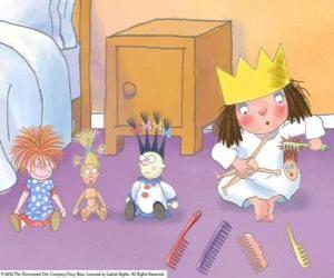 Puzzle Petite Princesse peigner leurs poupées