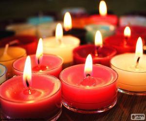 Puzzle Petites bougies, Noël