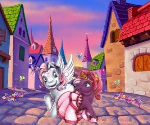 Puzzle Petits poneys dans la ville