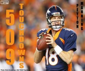 Puzzle Peyton Manning 509 touchdowns