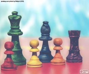 Puzzle Pièces d'échecs