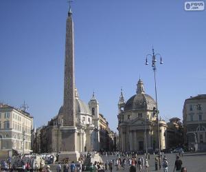 Puzzle Piazza del Popolo, Rome