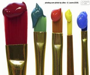 Puzzle Pinceaux colorés