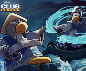Puzzle Pingouins Ninja, personnages du célèbre Club Penguin