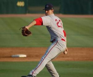 Puzzle Pitcher ou lanceur s'apprête à lancer la balle