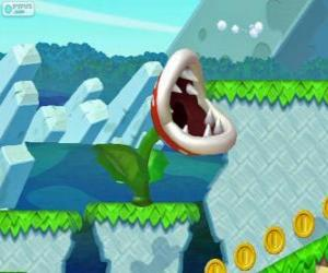 Puzzle Plante Piranha. Fleur Piranha. Plante carnivore de la série de Mario