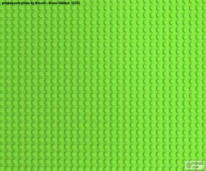 Puzzle Plaque de base verte Lego