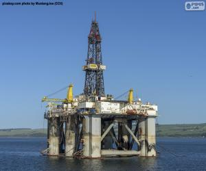 Puzzle Plate-forme pétrolière marine
