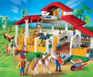 Puzzle Playmobil ferme