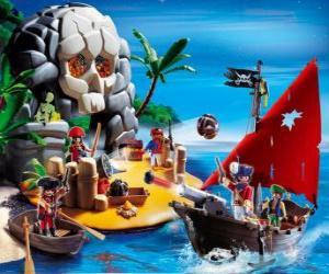 Puzzle Playmobil pirates Scène
