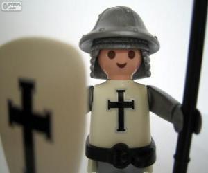 Puzzle Playmobil soldat médiéval