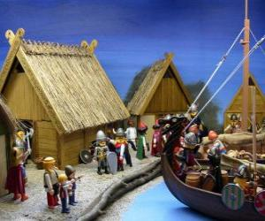 Puzzle Playmobil Viking Village