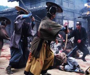 Puzzle Plusieurs combats de samouraï