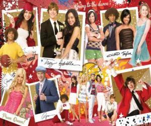 Puzzle Plusieurs images de High School Musical 3