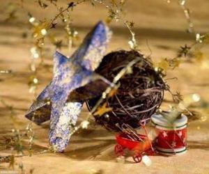 Puzzle Plusieurs ornementations de Noël