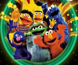 Puzzle Plusieurs personnages de Sesame Street