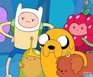 Puzzle Plusieurs personnages du Adventure Time