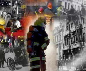 Puzzle Plusieurs photos de pompiers