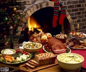 Puzzle Plusieurs plats pour Noël