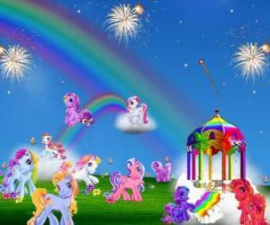 Puzzle Plusieurs poneys dans une célébration