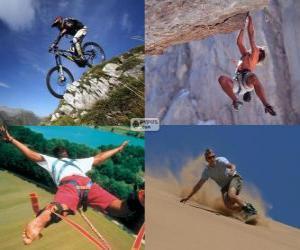 Puzzle Plusieurs sports extrêmes et d'aventure