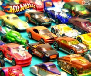 Puzzle Plusieurs voitures Hot Wheels