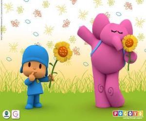Puzzle Pocoyo et Elly l'éléphant