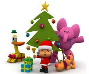 Puzzle Pocoyo et ses amis à Noël