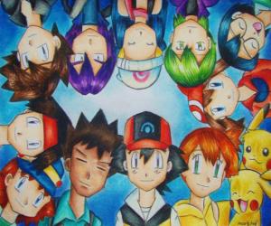 Puzzle Pokémon Personnages