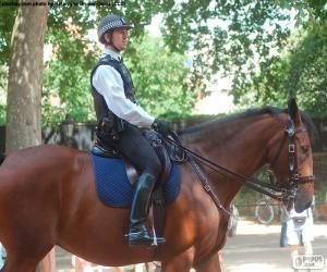 Puzzle Police de Londres à cheval