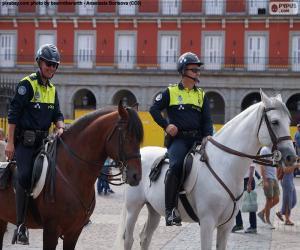 Puzzle Police municipale à cheval, Madrid