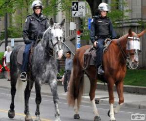 Puzzle Policiers à cheval